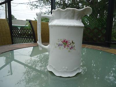 Vintage Porcelain German CT Floral Pitcher Signed & Numbered 3