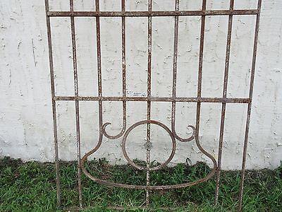 Antique Victorian Iron Gate Window Garden Fence Architectural Salvage Door #66 2
