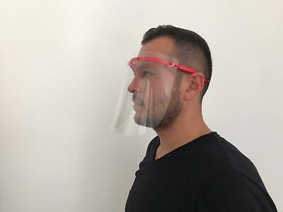 Safety Full Face Shield Clear Flip-Up Visor Transparent Medical Dental Glass 7