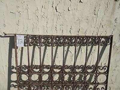 Antique Victorian Iron Gate Window Garden Fence Architectural Salvage Door #368 2