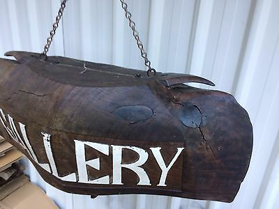 Antique Hand Carved Wooden Water Buffalo Bell/ Gallery Signage 5