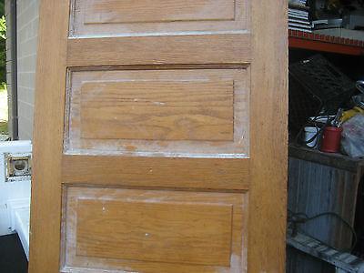 """circa 1900 SOLID oak PANELED door CHICAGO brownstone 83.5"""" x 32"""" x 1.75"""" 10"""