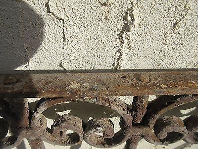 Antique Victorian Iron Gate Window Garden Fence Architectural Salvage Door #368 6