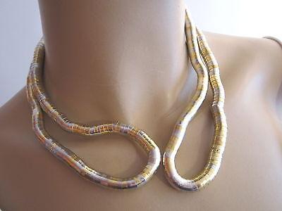 Biegekette Schlangenkette flexibel Modelierkette NEU silberfarben Schlauchkette