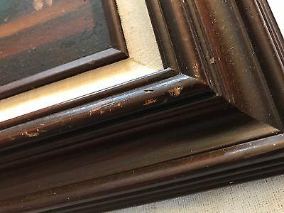 """Vintage Signed & Framed Original Oil on Board Floral in Vase Painting (6"""" X 12"""") 4"""