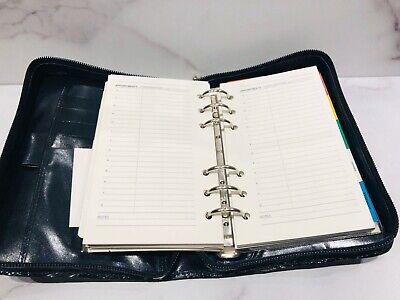 De Vecchi Dark Green Glossy Zip Around Address Book Planner Agenda 8