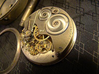 Vintage Elgin Car Clock Pocket Watch Long Stem Case Face Glass Parts or Repair 10