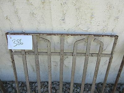 Antique Victorian Iron Gate Window Garden Fence Architectural Salvage Door #386 2