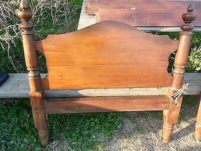 Old Walnut Bed 1890 ?  Old Wood Single Bed Hand Made 4