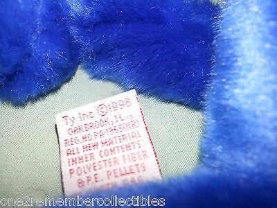 ... TY BEANIE BUDDIES Rare PEANUT 1998 ROYAL BLUE ELEPHANT BUDDY Plush NO HANG  TAG 4 426dd83e37db