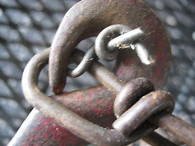 """Vintage 2 Metal Small Pulleys 1/2"""" thick 12 FT long Manila Rope 3"""