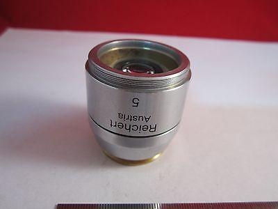 Microscope Objective Reichert Fluor 5X Polycon Epi Infinity Optiques Bin #11 DT 3