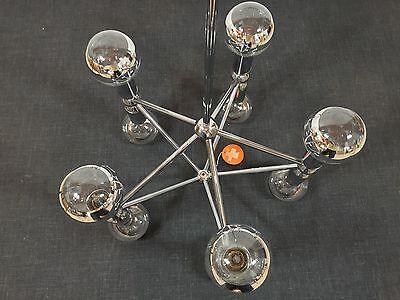 KINKELDEY Space Age ATOMIC Chandelier Pendant Lamp Fermigier Era Verre Lumiere 8 • CAD $1,864.80