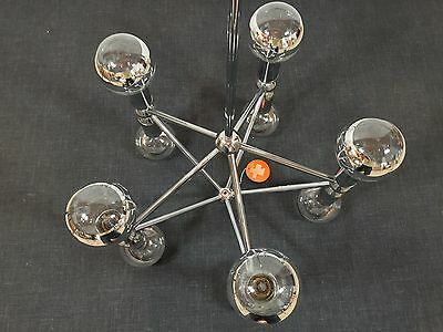 Mid Century 60s KINKELDEY Space Age Chandelier Lamp  Staff Era Stilnovo Sciolari 8