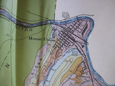 Color Soil Survey Map Huntingdon County Pennsylvania Mount Union Rockhill 1944 3