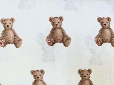 New  Pottery barn kids Organic Flannel Teddy Bear Full sheet set brown