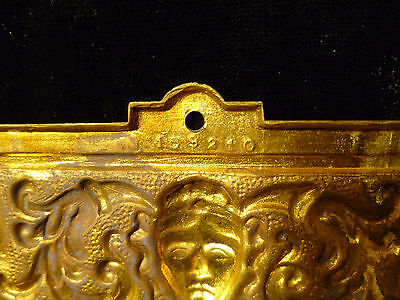 Set Of Six Victorian Brass Drawer Pulls With Human Mask Faces - Circa 1880 6