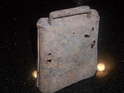 Antique Cow Bell - Large Size - 7 1/2 inches in height - Forged and Riveted 8