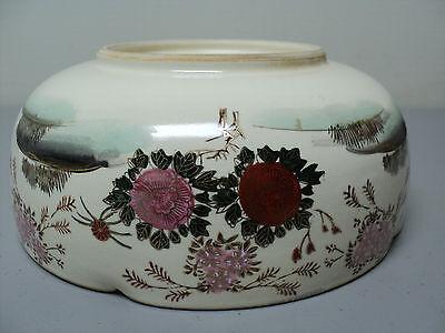 19th C. ANTIQUE JAPANESE SATSUMA POTTERY BOWL, MEIJI PERIOD (1868-1912) 7