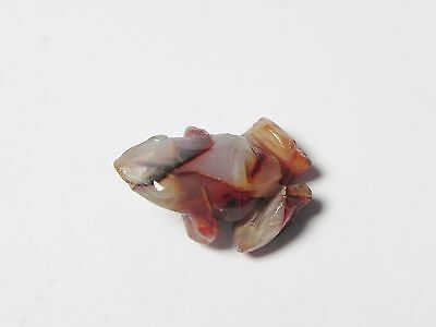 Zurqieh -Q239- Ancient Egypt , New Kingdom Agate Frog Amulet. 1400 B.c 5