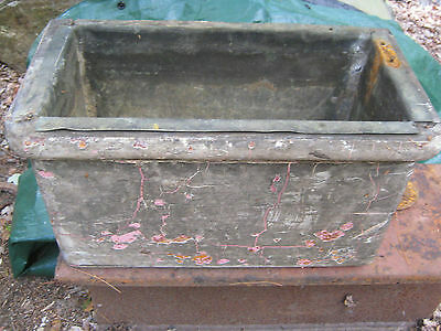 Antique Primitive Copper Wood Box Wall Hung Toilet Plumbing Flush Tank Holder 3