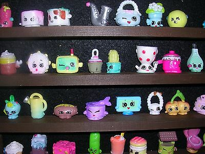 Shopkins wall display rack-100 mini figures-children-kids in Dark Oak