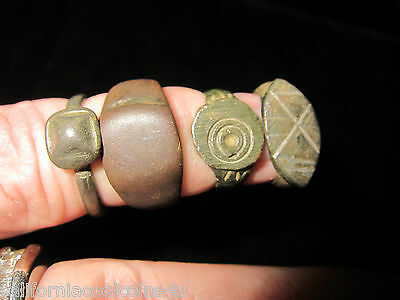 4- MONETA - Beautifully Cleaned Ancient Roman & Byzantine Rings -Bronze & Pewter 2