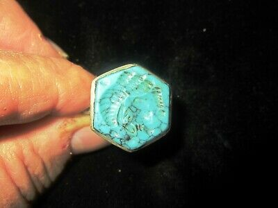 AUTHENTIC MEDIEVAL SILVER RING - w/ SEAL BUST - WEARABLE - over 1,000 years old 6