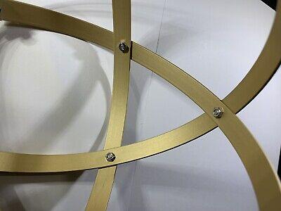 Genesa Crystal diametro 16 cm alluminio satinato oro profilo 1,2 cm 4