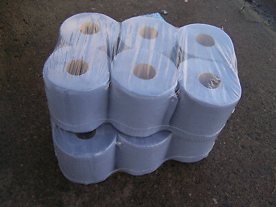 BLUE ROLL 2Ply centrefeed rolls, paper hand towels, absorbant * *Various qty ** 4