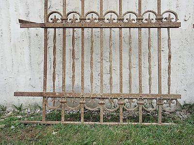 Antique Victorian Iron Gate Window Garden Fence Architectural Salvage Door #710 5