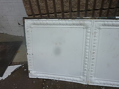"GORGEOUS antique VICTORIAN tin ceiling TILE EGG & DART pattern 25"" x 48"" 4"