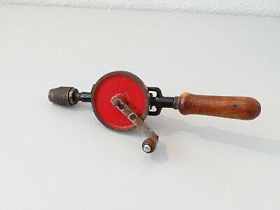 Vintage Antike Handbohrmaschine Holz Bohrer Bohrmaschine Handbohrer 10