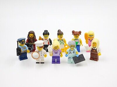 LEGO 3 NEW NURSE DOCTOR HOSPITAL MINIFIGURES WITH SECRETARY HEALTH CARE