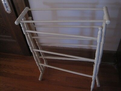 Antique Wood Quilt Rack Center Section & Two Outside Movable  Arms 2