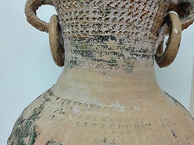 Antiguo Gran Jarron Vasija de ceramica con Argollas, principios de S. XX 4