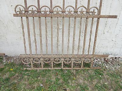 Antique Victorian Iron Gate Window Garden Fence Architectural Salvage Door #308 4