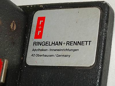 Altes R+R Kodiergerät Ringelhan Rennett Oberhausen Apotheker Geräte CodierGerät 5