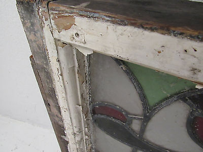 Vintage Art Deco French Stained Glass Hanging Window (2921)NJ 6