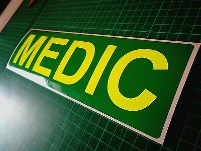 Emergency Response REFLECTIVE MAGNET  Medic Ambulance Paramedic Doctor 620mm x1