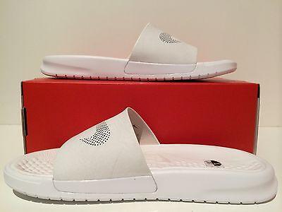 49b35404120f ... New Men s NikeLab Nike Benassi Slide Lux Sandal Triple White Size 7  818742 100 6