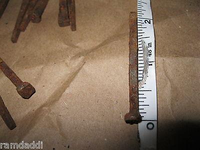 """1/2 LB Lot Vintage Cut Nails 2"""" 2 1/8"""" OLD VINTAGE ANTIQUE RUSTY NAILS about 50 2"""