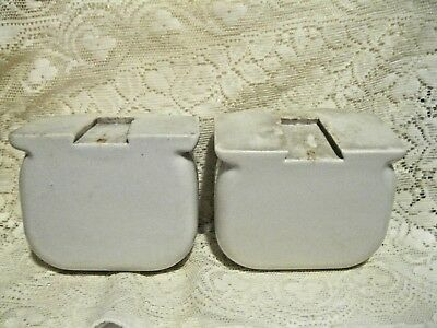 Vintage White Porcelain Bathroom Wall Mount Matching Soap Dishes 5