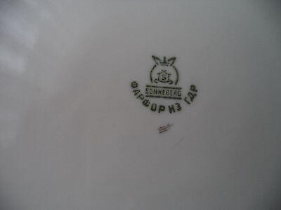 Porzellan Gebäck Schale Teller Rocaillen wohl Barockform wiess Ø 27 cm WS2