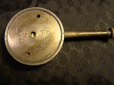 Vintage Elgin Car Clock Pocket Watch Long Stem Case Face Glass Parts or Repair 6