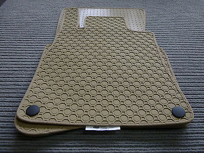Lengenfelder Gummimatten passend für Audi R8 Coupe Spyder NEU Gummi BEIGE