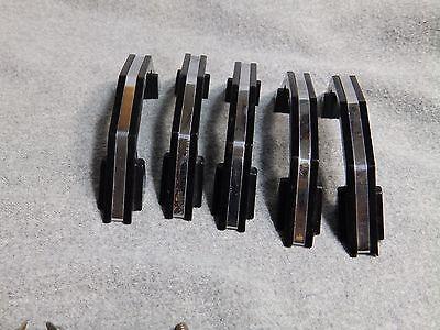 10 Vintage Black Chrome Cabinet Door Drawer Pulls Old Hardware NOS With Screws 3 6