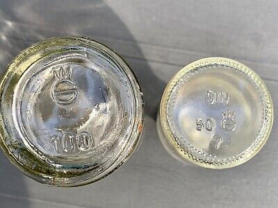 8x alte Apothekerflaschen vor 1945 Wehrmacht Lazarett Gerresheimer Glas AG 11