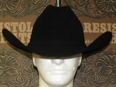 4fbea6c74c2 ... 4Only 3 available Resistol 20X Beaver Felt Black Gold Cowboy Western Hat  2