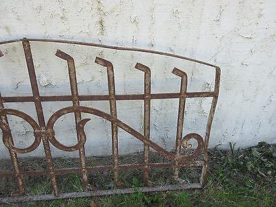 Antique Victorian Iron Gate Window Garden Fence Architectural Salvage Door #154 3
